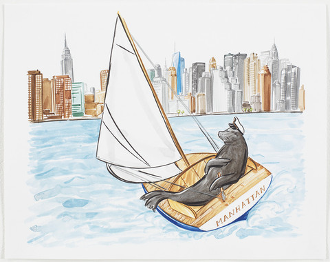 Hayley Sarno, 'Seal Sailing to New York ', ArtStar