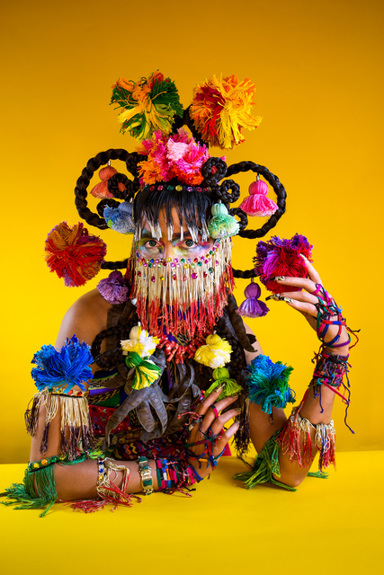 Martine Gutierrez, 'Demons, Xochiquetzal 'Flower Quetzal Feather,' p95 from Indigenous Woman', 2018, RYAN LEE