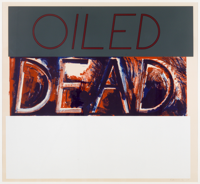 , 'Oiled Dead (State),' 1975, Susan Sheehan Gallery