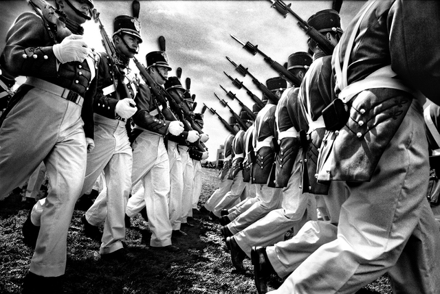 , 'SERVICE: Cadets marching in the graduation parade at the U.S. Military Academy.,' 2008, Milk Gallery
