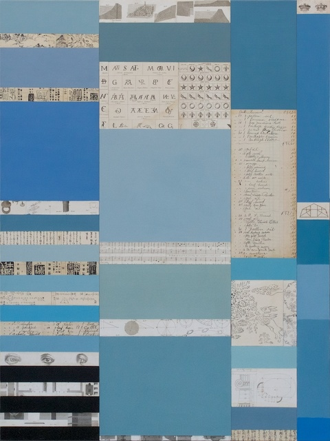 Mitch Jones, 'Rhyme & Rhythm Series, Blues', 2014, Painting, Oil and mixed media on canvas, Andrea Schwartz Gallery