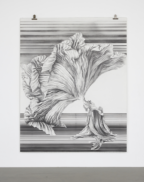 Katja Davar, 'The Fold, the Fan', 2019, Drawing, Collage or other Work on Paper, Pencil and graphite powder on Bockingford 400g paper, Kadel Willborn