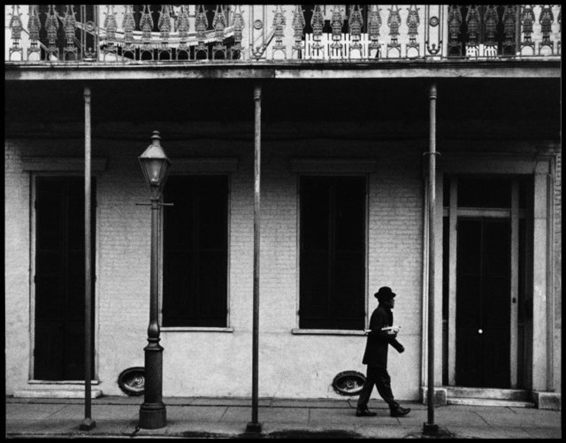, 'Ernest Miller nicknamed Kid Punch Miller trumpet player and singer returning home at 6 am. New Orleans, Louisiana. USA. 1958.Ernest Miller nicknamed Kid Punch Miller trumpet player and singer returning home at 6 am. New Orleans, Louisiana. USA.,' 1932, Magnum Photos