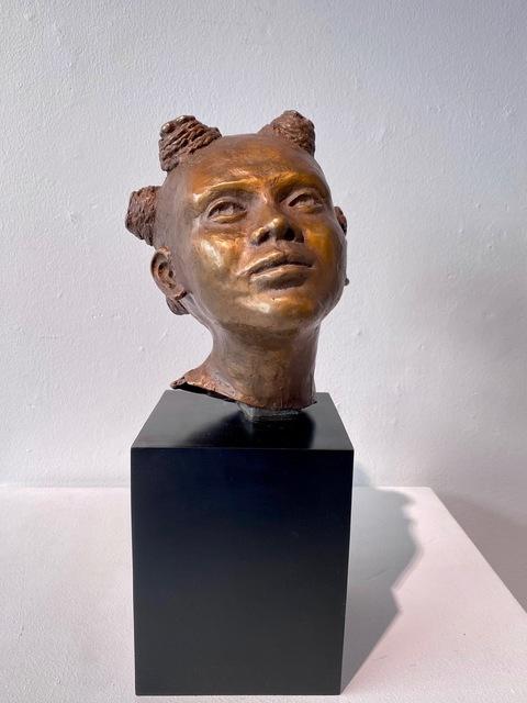 Kari Lena Flåten, 'Little girl', 2020, Sculpture, Bronze sculpture, GALLERI RAMFJORD