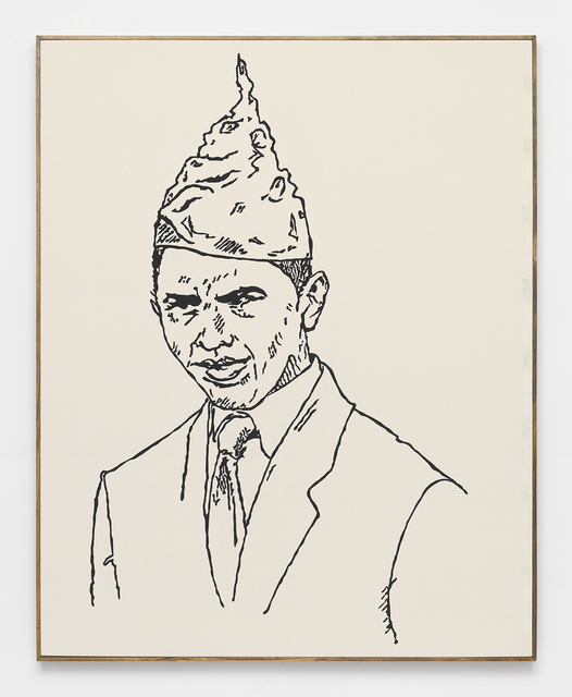 , 'BARACK OBAMA -- from Direct Action Guide (Proceeds support ELF, Greenpeace, Planned Parenthood) Support ETHICAL treatment (NUDE SERIES),' 2014, Feuer/Mesler