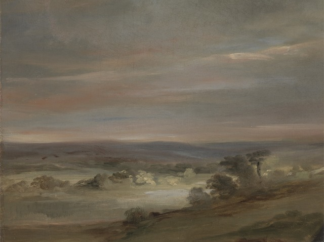 John Constable, 'A View on Hampstead Heath, Early Morning', ca. 1821, Yale Center for British Art