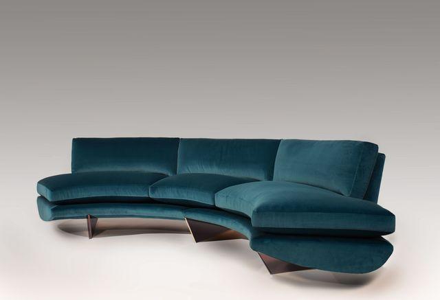 "Georgis & Mirgorodsky, '""Whalebone"" Curved Sofa', 2014, Design/Decorative Art, Choice of wood or bronze supports, COM upholstery, Maison Gerard"