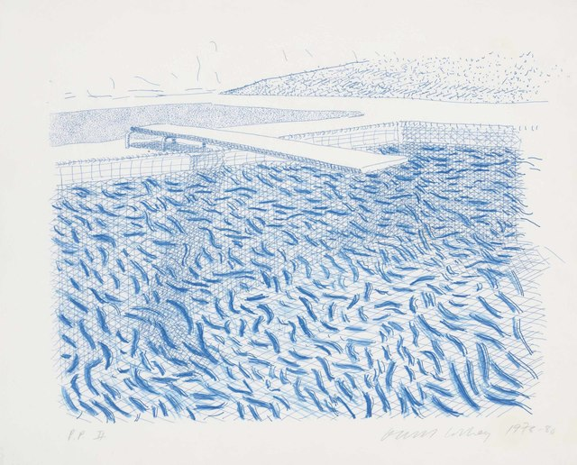 David Hockney, 'Lithographic water made of lines and crayon', 1978-80, Christie's