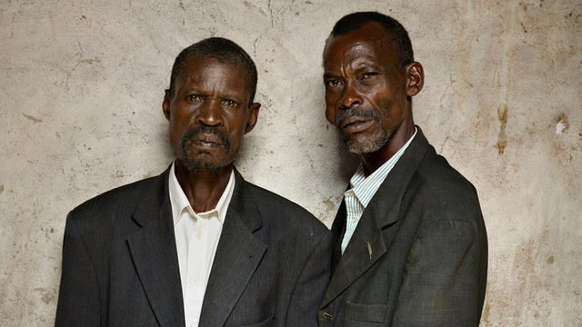, 'François Sinzikiramuka perpetrator (left); Christophe Karoreri, survivor From the Series Portraits of Reconciliation, a project of Creative Court,' 2014, galerie nichido / nca | nichido contemporary art