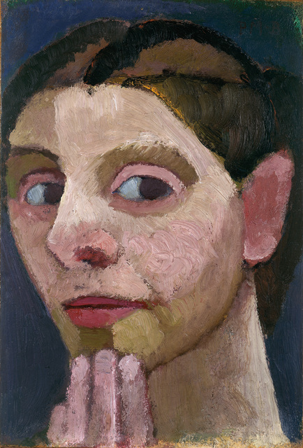 , 'Selbstbildnis nach halblinks, die Hand am Kinn (Self-Portrait Turned to the left with Her Hand at Her Chin ),' 1906, Louisiana Museum of Modern Art