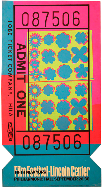 , 'Lincoln Center Ticket,' 1967, Hollis Taggart Galleries