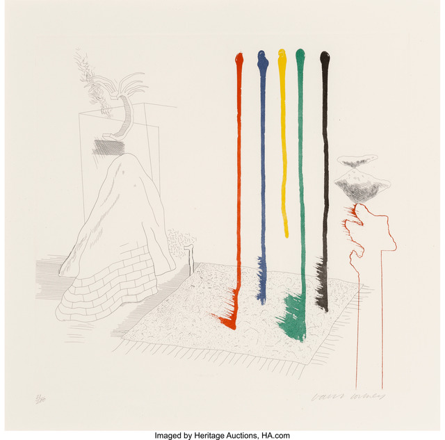 David Hockney, 'I Say They Are, pl. 16, from The Blue Guitar', 1976, Heritage Auctions