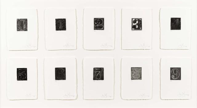 Jasper Johns, '0-9', 1975, Leslie Sacks Gallery