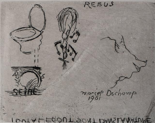 Marcel Duchamp, 'Rebus', 1961, Gilden's Art Gallery