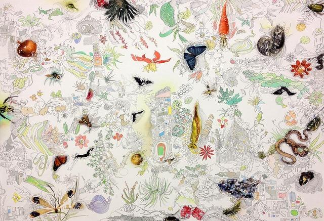 , 'Memoria Cartográfica de Saberes Populares (Ejercicio #2),' 2015, Galería Hilario Galguera