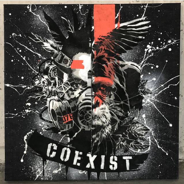 DRAGON76, 'Coexist Stencil 3', 2019, The Compound Gallery