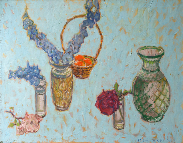 , 'Blue Delphinium, Pink Rose, Red Rose,' , Winchester Galleries