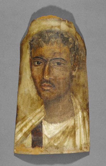 'Mummy Portrait of a Man', 100 - 125, J. Paul Getty Museum