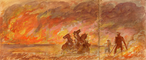 , 'The Prairie Fire,' 1940, Kiechel Fine Art
