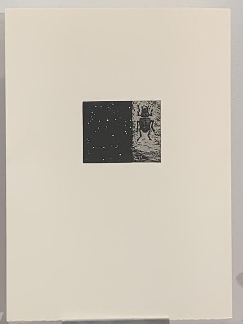 Vija Celmins, 'Night sky/Beetle', 1990, Print, Woodcut & linocut, Anders Wahlstedt Fine Art