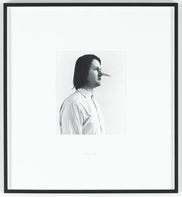 Sigurdur Gudmundsson, 'Regret (Spijt)', 1976, Photography, Silverprint on fiberbased paper, text, i8 Gallery