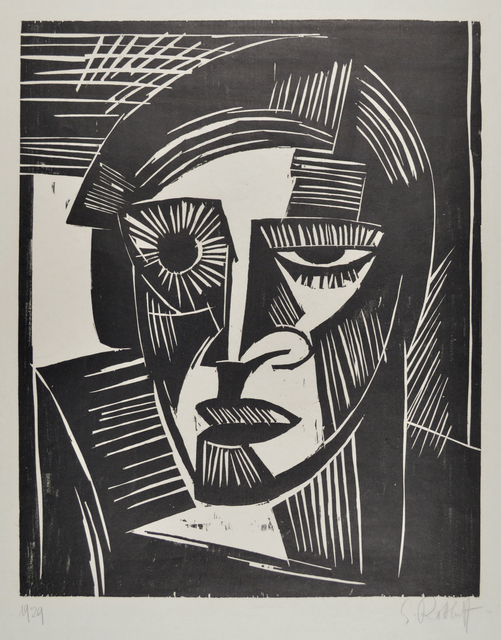 , 'Head (Portrait of a Woman),' 1919, Galerie St. Etienne