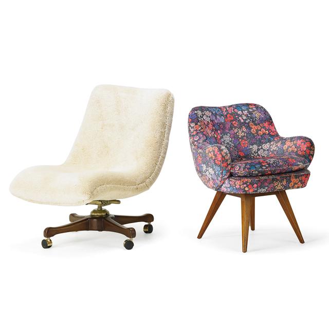 Vladimir Kagan, 'Two Lounge Chairs, New York', 1950s, Rago/Wright