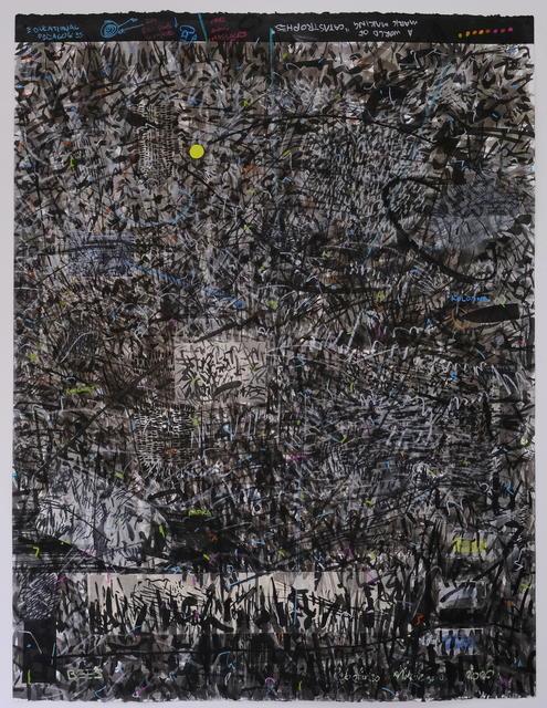Pebofatso Mokoena, 'Bees', 2020, Drawing, Collage or other Work on Paper, Mixed media drawing with Sumi ink wash, Stabilio water-soluble wax crayon, pen, Caran d'ache crayons and pencil with drawing and silkscreened collage pieces on Hosho, Magnani Pescia, Mingei black and Kitakata papers; on Somerset, Radiant White, 550gsm., David Krut Projects