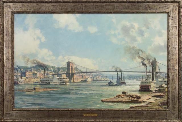, 'Cincinnati, Queen City of the West, 1885,' 1885, Eisele Gallery of Fine Art