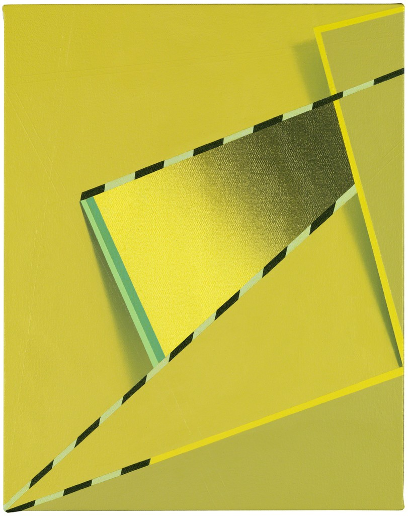 """Tomma Abts, Feke, 2013 Acrylic & oil on canvas 48 × 38 cm, 18 7/8"""" × 15"""" Courtesy Private Collection, New York"""