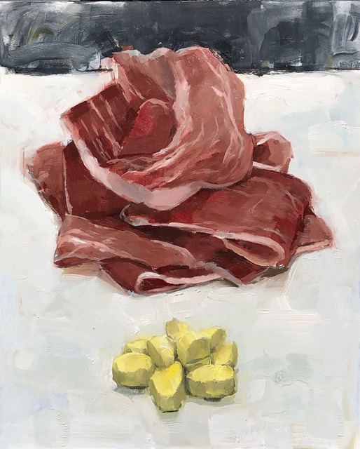 Tom Giesler, 'Health Study 6: prosciutto xanax', 2020, Painting, Oil on panel, McVarish Gallery