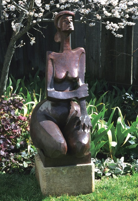 """Wayne Salge, '""""Augusta"""" large-scale sculpture of a woman kneeling with vibrant bronze patina', 2018, Eisenhauer Gallery"""