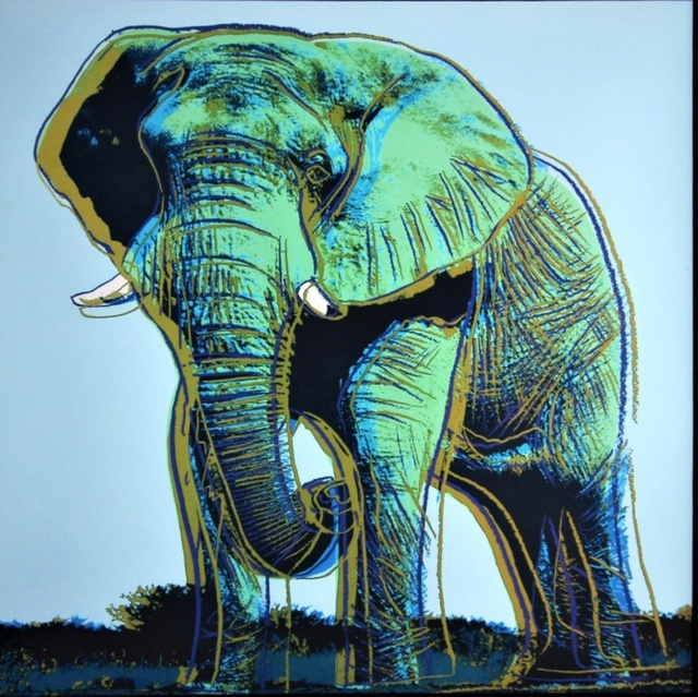 Andy Warhol, 'Elephant for Art Basel', 1987, Alpha 137 Gallery Auction