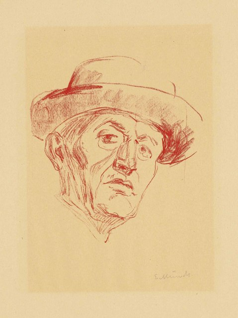 Edvard Munch, 'Self-Portrait with Hat I', 1927, Christie's