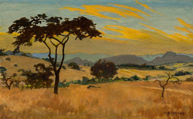 Erich Mayer, 'Landscape with Foreground Tree', Strauss & Co