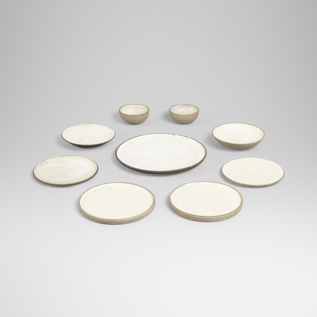 Aage and Kasper Wurtz, 'collection of nine serving pieces', Design/Decorative Art, Glazed ceramic, Rago/Wright