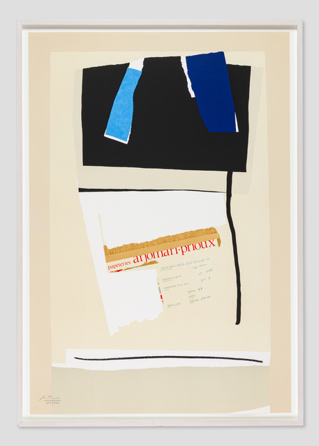 Robert Motherwell, 'America--La France Variations VI ', 1984, Zane Bennett Contemporary Art