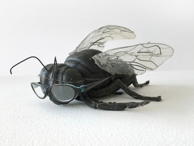 , 'Self-Portrait as Fly with Glasses,' 2017, Marc Straus