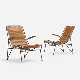 Sol-Air sling chairs, pair