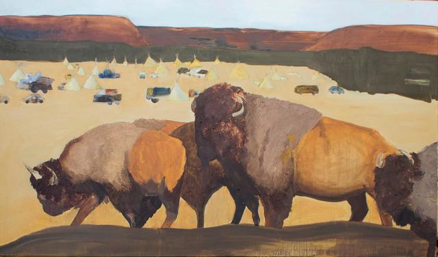 , ' Búfalos e os Siouxie,' 2017, Baró Galeria