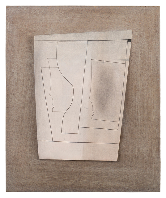 Ben Nicholson, 'June 59 (Ronco 146)', 1959, Drawing, Collage or other Work on Paper, Oil wash and pencil on paper laid on board prepared by the artist, Il Ponte
