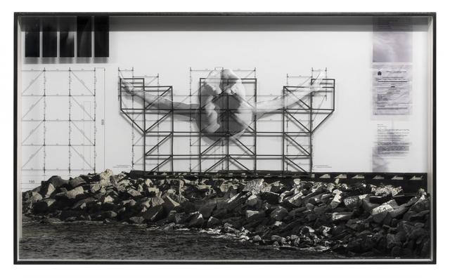 , 'GIANTS, Cleuson LIMA DO ROSARIO from Brazil, Barra da Tijuca, from the beach © Comité international Olympique, Work in progress, Rio de Janeiro, Brazil, 2017,' 2017, Lazinc