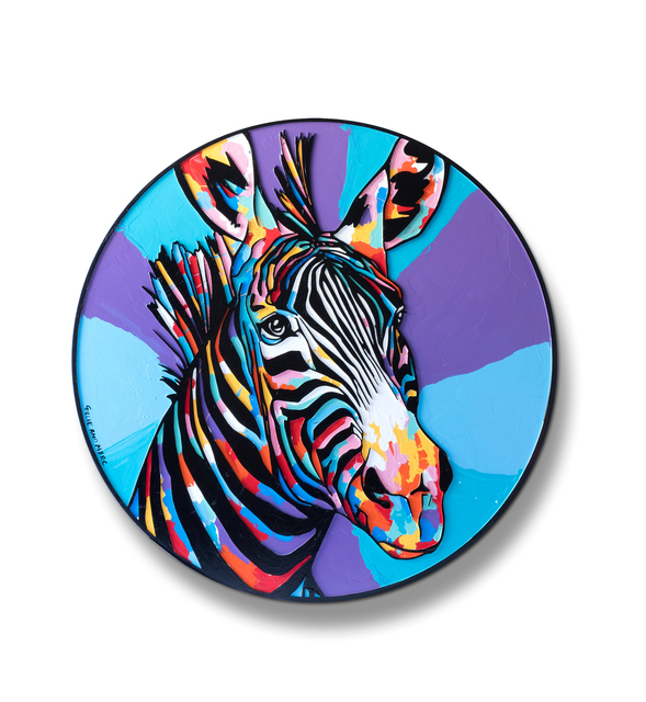 , 'The zebra was now the centre of everyone's attention ,' 2018, Gillie and Marc Art Gallery