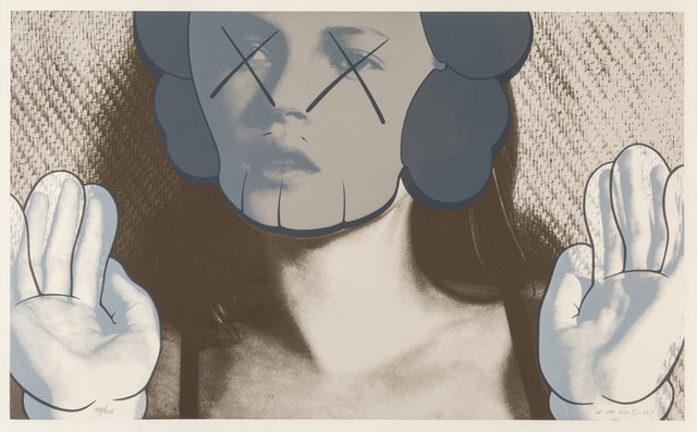 KAWS, 'Kate Moss, White Gloves', 2001, Print, Screenprint in colors on Arches 88 paper, Heritage Auctions