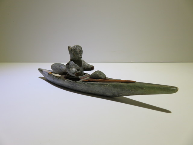 , 'Figure in kayak,' ca. 1960, Arctic Experience McNaught Gallery