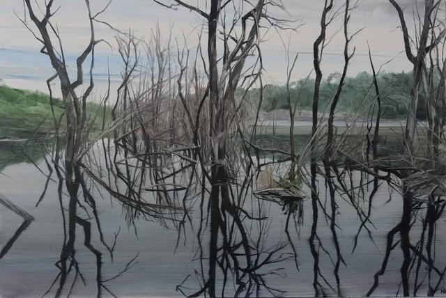 Nicholas Blowers, 'Savage Pond X Study', 2018, Painting, Oil on panel, Nanda\Hobbs