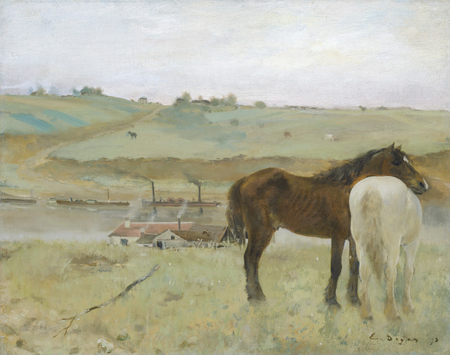 Edgar Degas, 'Horses in a Meadow', 1871, National Gallery of Art, Washington, D.C.