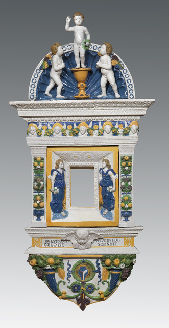 , 'Eucharistic tabernacle with Jesus as a Child blessing, angles and cherubs,' 1515-1520, Brun Fine Art
