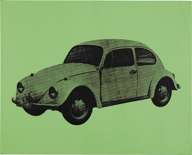 Andy Warhol, 'Volkswagen Bug (Green)', 1977, Mixed Media, Synthetic polymer paint and silkscreen ink on canvas, Phillips