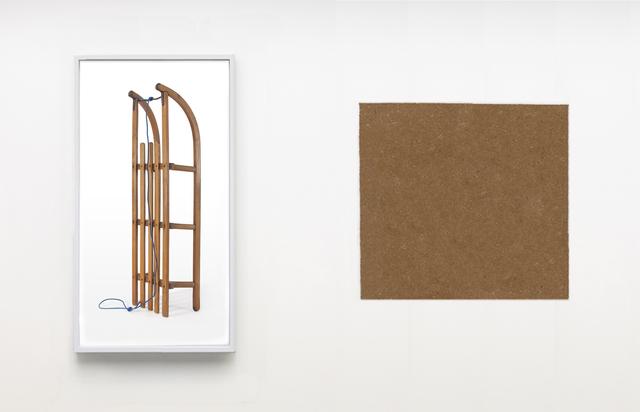 , 'The Color of Things (Sled),' 2018, Galleri Nicolai Wallner
